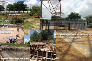 Project bouwen mast fundatie Telesur Lelydorp